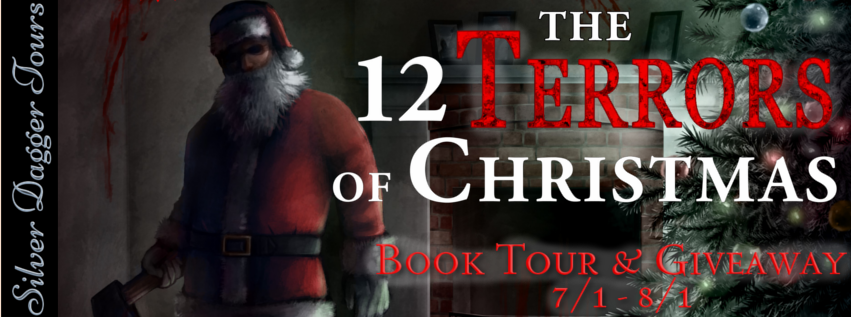 Book Tour Banner for 12 Terrors of Christmas by Claudette Melanson with a Giveaway