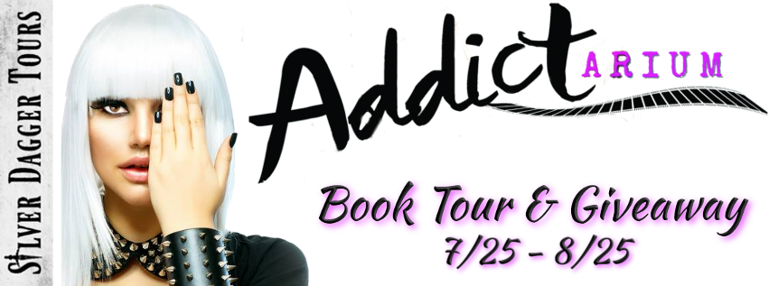 Book Tour Banner for the memoir Addictarium by Nicole D'Settēmi with a Book Tour Giveaway