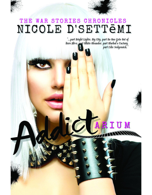 Book Cover for memoir Addictarium by Nicole D'Settēmi.