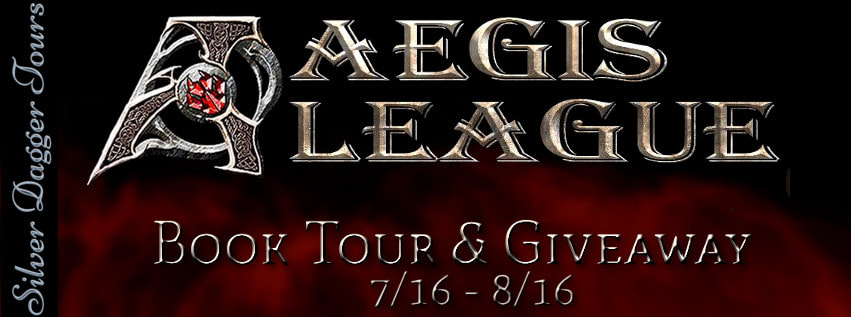 Book Tour Banner for the sci fi fantasy series, Aegis League by S.S. Segran with a Book Tour Giveaway