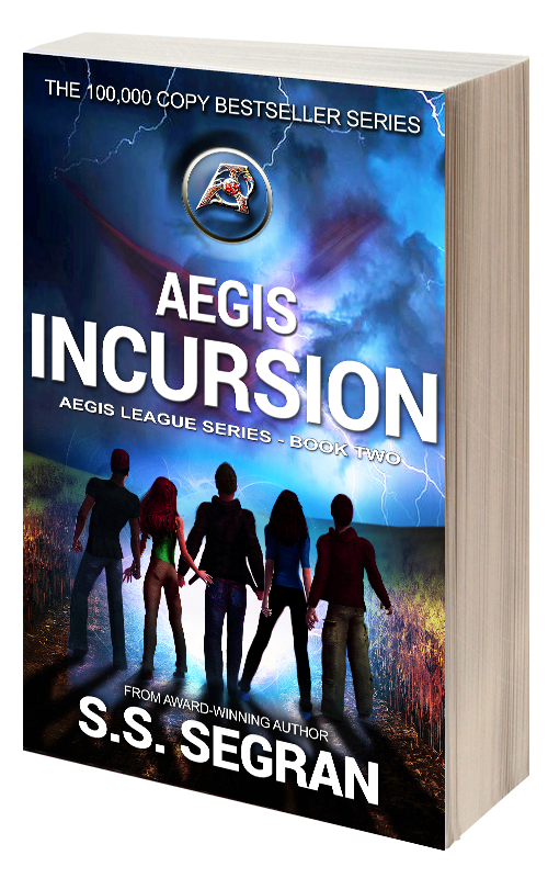 Book Cover for Aegis Incursion from sci fi fantasy series, Aegis League by S.S. Segran.
