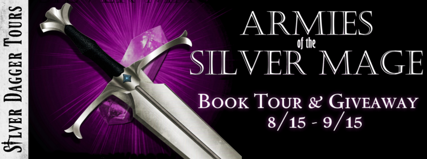 Book Tour Banner for  epic fantasy Armies of the Silver Mage from the Histories of Malweir series by Christian Warren Freed with a Book Tour Giveaway