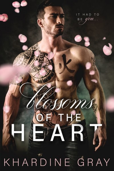 Book Cover for contemporary romance Blossoms of the Heart by Khardine Gray.
