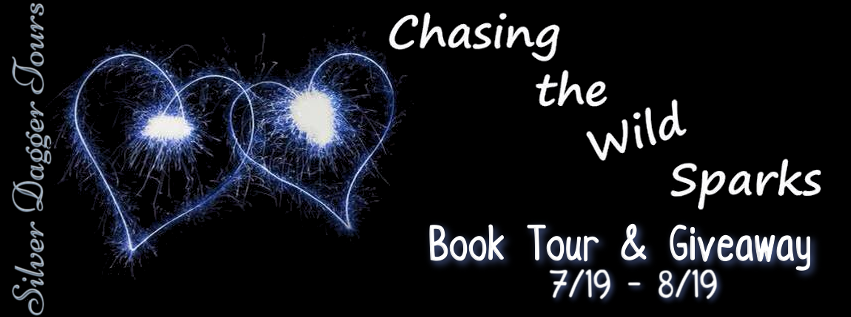 Book Tour Banner for  contemporary romance, Chasing the Wild Spark, from the Wild Sparks series by Ren Alexander  with a Book Tour Giveaway