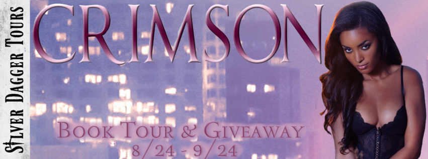 Book Tour Banner for  paranormal romance novel Crimson by Tamela Miles with a Book Tour Giveaway