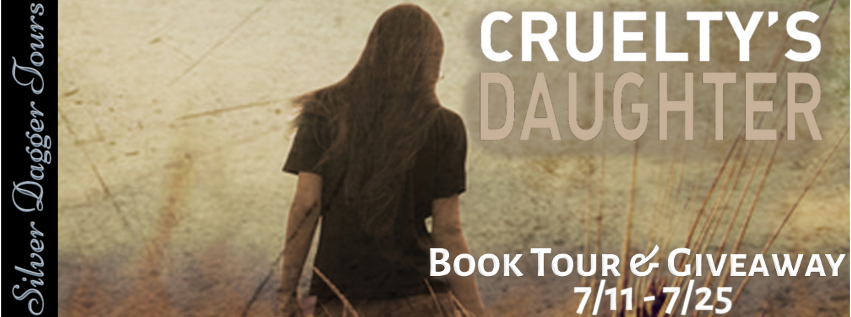 Book Tour Banner for the psychological thriller Cruelty's Daughter by Anna Willett with a Book Tour Giveaway