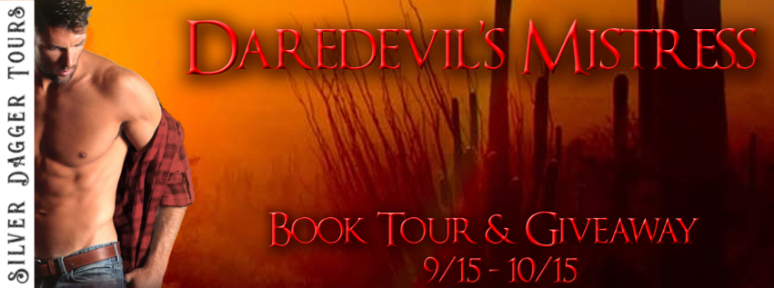 Book Tour Banner for contemporary romance Daredevil's Mistress from the Fire & Ice series by Charlene Namdhari with a Book Tour Giveaway