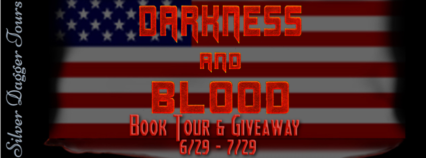 Book Banner for Book Tour & $10 Amazon Gift Card Giveaway for Thriller Darkness and Blood by Steve Haberman