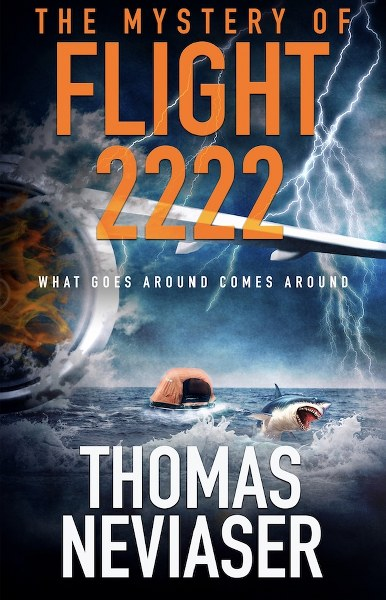 Book Cover for  mystery suspense novel The Mystery of Flight 2222 by Thomas Neviaser.