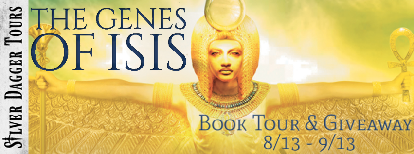 Book Tour Banner for epic fantasy The Genes of Isis by Justin Newland with a Book Tour Giveaway