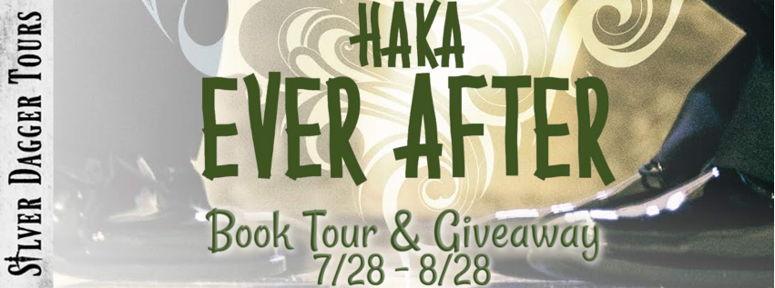 Book Tour Banner for the contemporary romance Haka Ever After by Dahlia Donovan with a Book Tour Giveaway