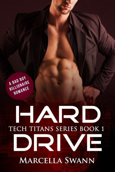 Book Cover for contemporary romance novel Hard Drive from the Tech Titans series by Marcella Swann.