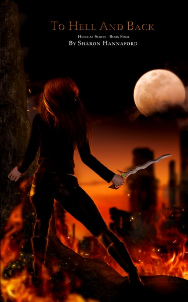 Book Cover for To Hell and Back  from the Hellcat urban fantasy series by Sharon Hannaford.