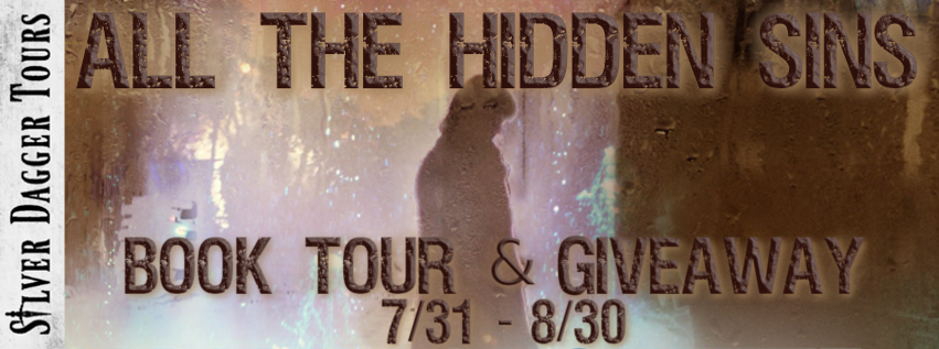 Book Tour Banner for the mystery thriller All the Hidden Sins by Marian Lanouette with a Book Tour Giveaway