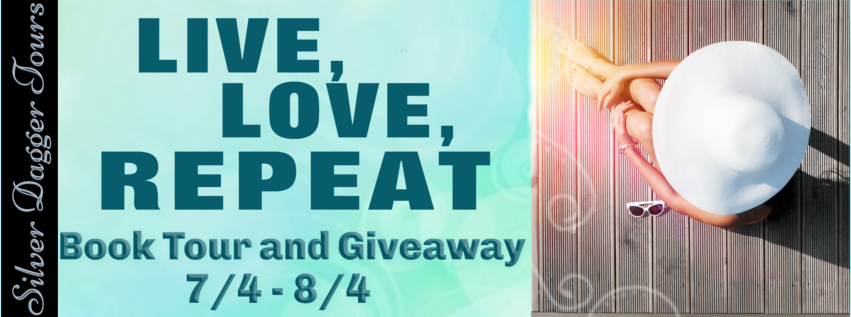 Book Tour Banner for the contemporary Romance Live, Love, Repeat by JD Corbett with a Book Tour Giveaway