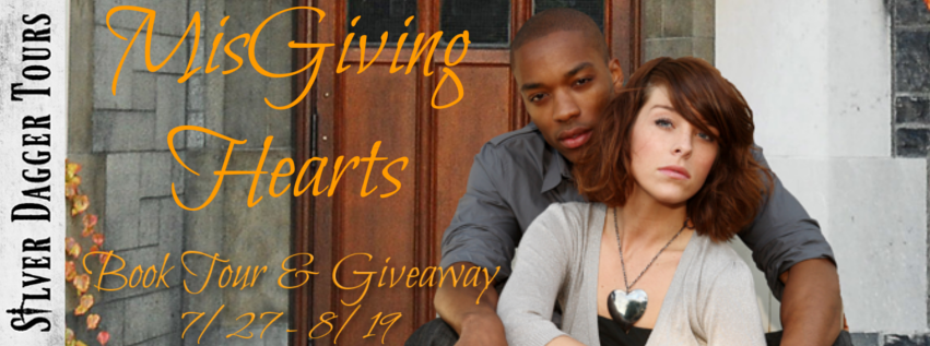 Book Tour Banner for the romantic suspense MisGiving Hearts by J.Haney & S.I. Hayes with a Book Tour Giveaway