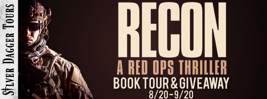 Book Tour Banner for thriller Recon from the Red Ops Series by David McCaleb with a Book Tour Giveaway