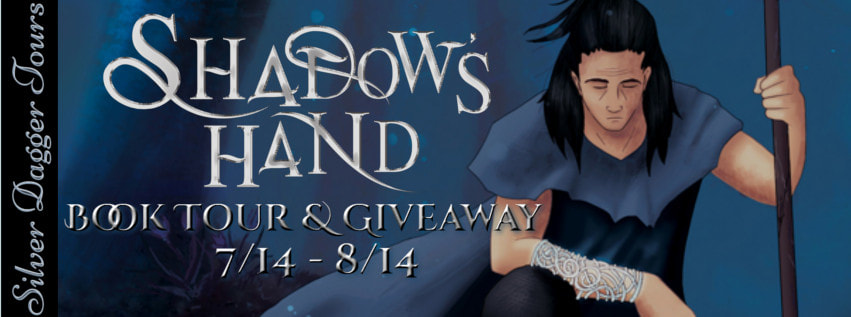 Book Tour Banner for epic fantasy, Shadow's Hand, from The Shadow's Creed Saga by Noelle Nichols with a Book Tour Giveaway