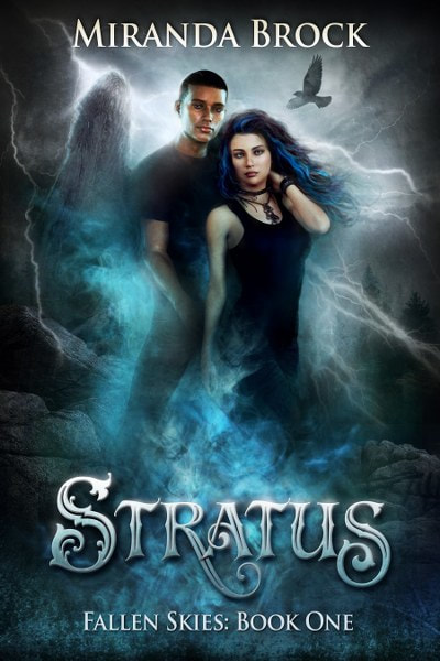 """Book Cover for paranormal romance Stratus from the Fallen Skies Series by Miranda Brock."""