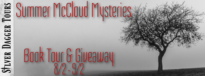 Book Tour Banner for the Summer McCloud paranormal mystery series by Nikki Broadwell with a Book Tour Giveaway