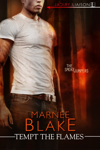 Book Cover for romantic susprnse novel Tempt the Flames from The Smokejumpers series by Marnee Blake.