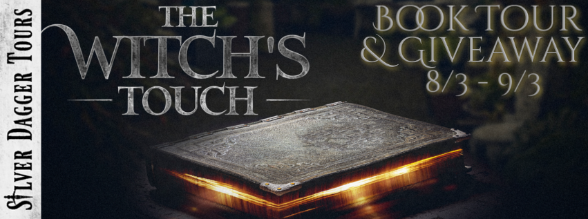 Book Tour Banner for urban fantasy novel The Witch's Touch by Rosie Wylor-Owen with a Book Tour Giveaway