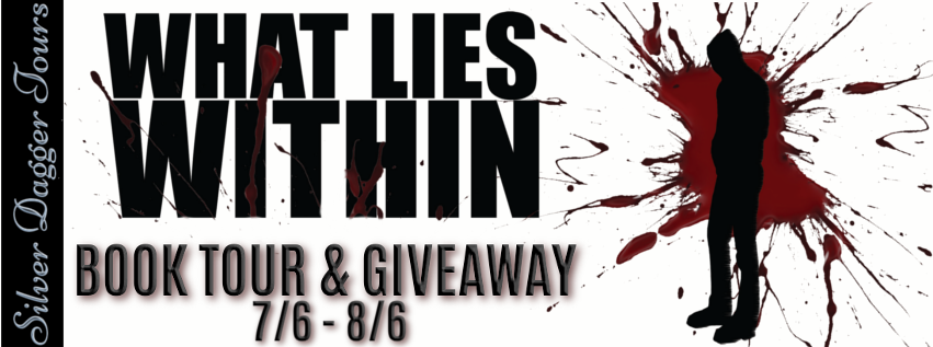 Book Tour Banner for the crime thriller What Lies Within  by Robert Smith with a Book Tour Giveaway