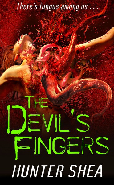 Book Cover for horror novel The Devil's Fingers from the One Size Eats All series by Hunter Shea.