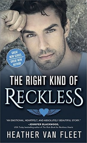 Book Cover for  contemporary romance The Right Kind of Restless from the Reckless Hearts series by Heather Van Fleet.