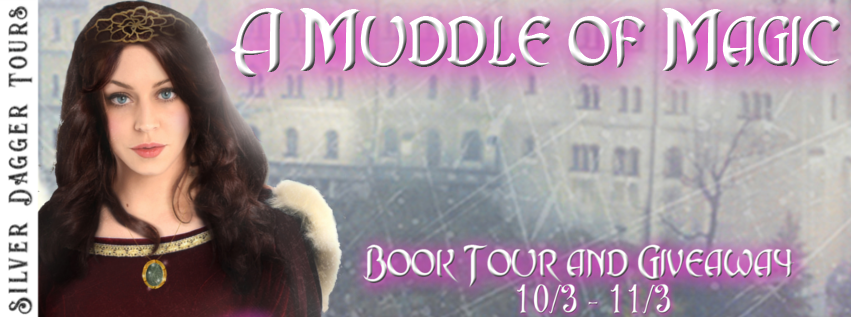 Book Tour Banner for epic fantasy novel A Muddle of Magic by Alexandra Rushe  with a Book Tour Giveaway