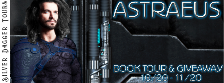 Book Tour Banner for science fiction romance Astraeus by Haley Cavanagh with a Book Tour Giveaway