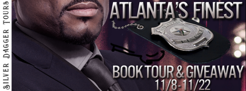Book Tour Banner for the Atlanta's Finest romantic suspense series by Sharon C. Cooper with a Book Tour Giveaway