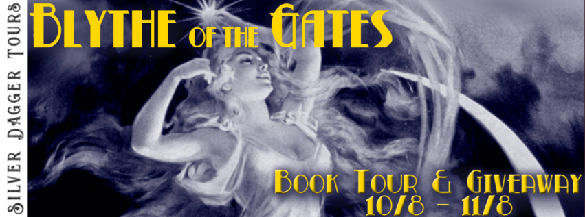Book Tour Banner for historical crime thriller Blythe of the Gates by Leah Erickson with a Book Tour Giveaway
