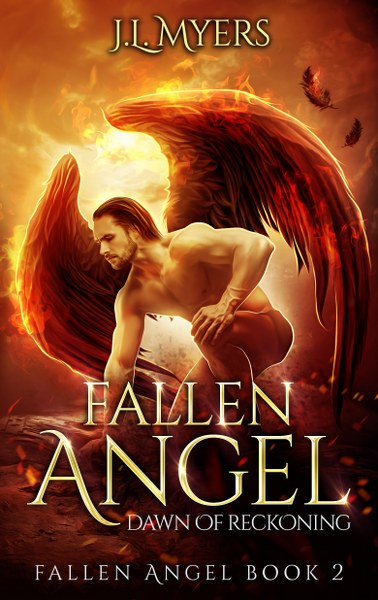 Book Cover for Dawn of Reckoning from the Fallen Angel paranormal romance series by J.L. Myers.