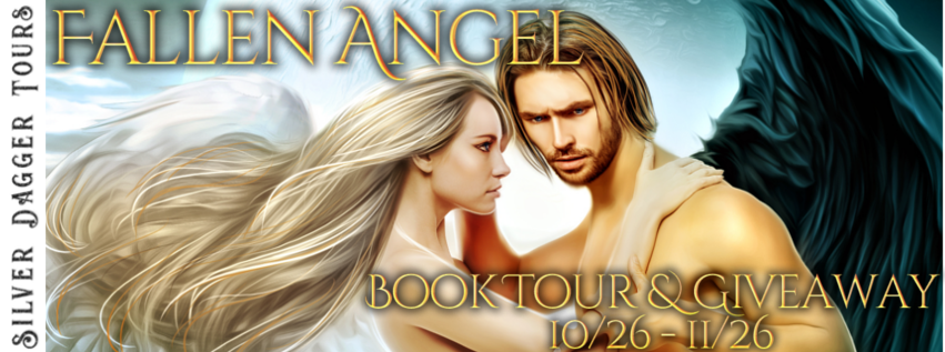 Book Tour Banner for The  Fallen Angel paranormal romance series by J.L. Myers  with a Book Tour Giveaway