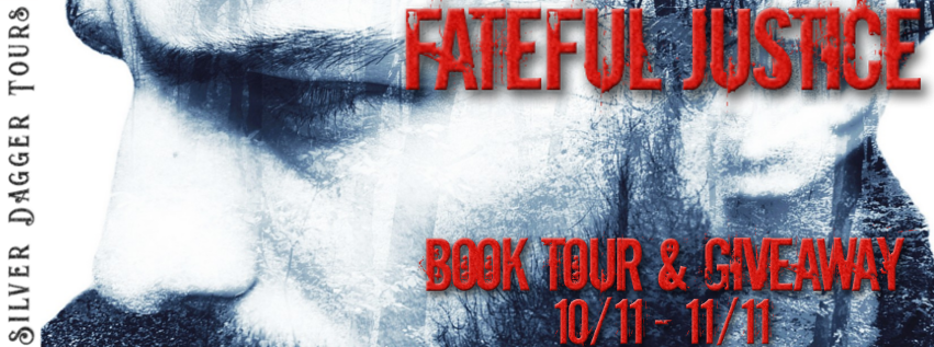 Book Tour Banner for the Fateful Justice Contemporary Romance series by Sara Vinduska with a Book Tour Giveaway
