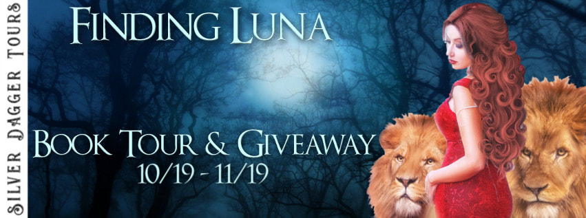Book Tour Banner for reverse harem paranormal romance Finding Luna from the Pride series by Becca Fanning with a Book Tour Giveaway