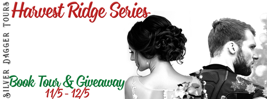 Book Tour Banner for the Harvest Ridge contemporary romance series by K.L. Ramsey with a Book Tour Giveaway