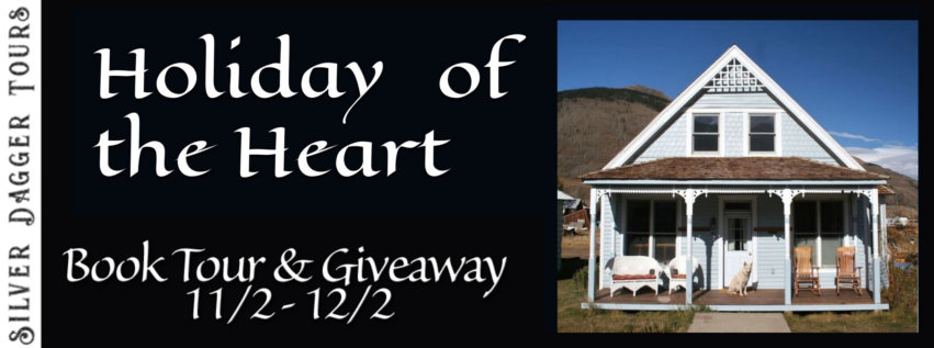 Book Tour Banner for contemporary romance novel Holiday of the Heart by Angela Wolfe with a Book Tour Giveaway