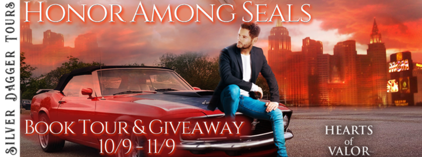 Book Tour Banner for romantic suspense Honor Among Seals from the Hearts of Valor series by Dixie Lee Brown with a Book Tour Giveaway