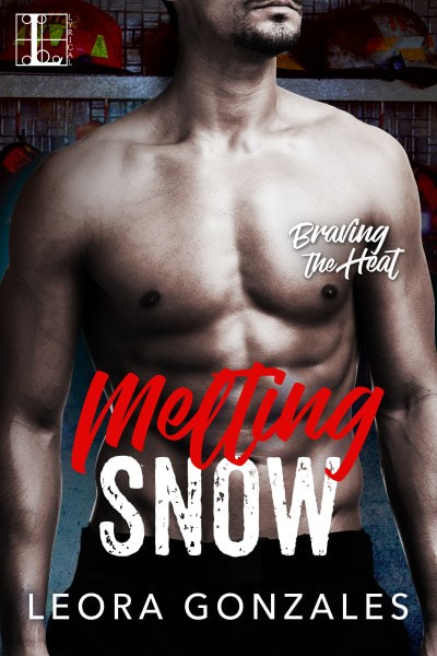 Book Cover for contemporary romance novel Melting Snow from the Braving the Heat series by Leora Gonzales.