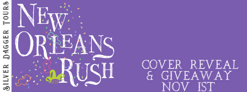 Book Tour Banner for upcoming contemporary romance novel New Orleans Rush by Kelly Siskind  with a Book Tour Giveaway