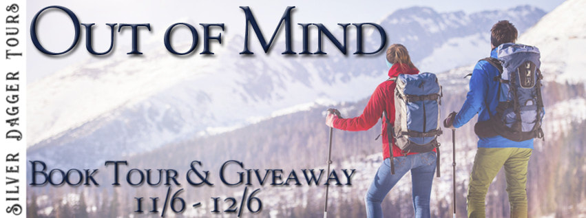 Book Tour Banner for  romantic suspense adventure novel Out of Mind from the Maximum Exposure series by Kendall Talbot with a Book Tour Giveaway