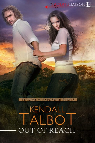 Book Cover for romantic suspense adventure novel Out of Mind from the Maximum Exposure series by Kendall Talbot.