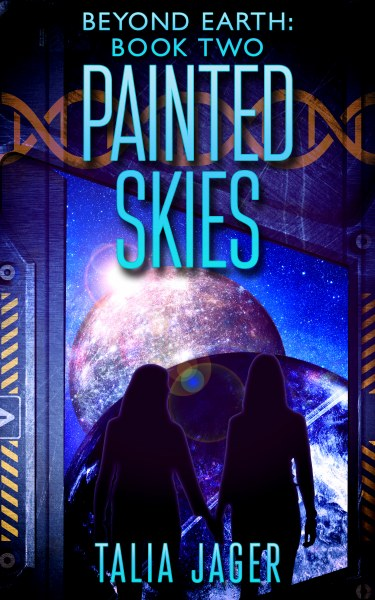 Book Cover for Painted Skies from the Beyond Earth series by Talia Jager.