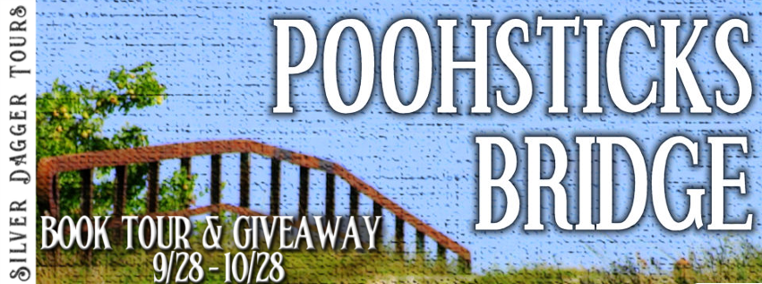 Book Tour Banner for coming of age romance Poohsticks Bridge by the Birch Twins with a Book Tour Giveaway