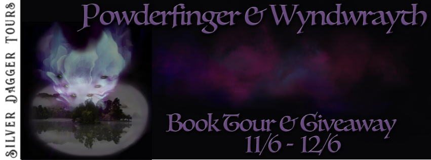 Book Tour Banner for horror novels Powderfinger and Wyndwrayth by Keller Yeats with a Book Tour Giveaway