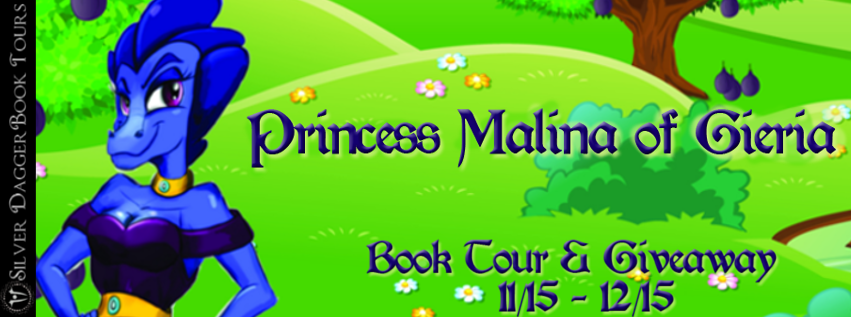 Book Tour Banner for young adult fantasy romance novel Princess Malina of Gieria by Mindy M. Mather with a Book Tour Giveaway