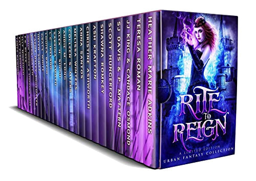 Book Cover for young adult urban fantasy paranormal romance box set Rite to Reign.