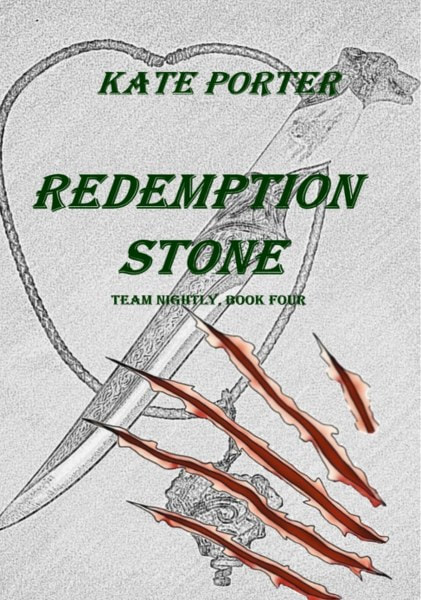 Book Cover for urban fantasy Redemption Stone from the Team Nightly Series by Kate Porter .